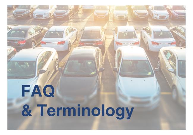 Auto Dealer Supplies Terminology