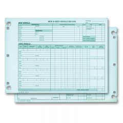 Vehicle Inventory Sheets
