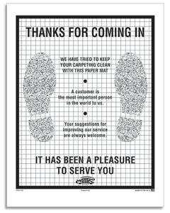 Paper Floor Mat - Poly Back Footprint