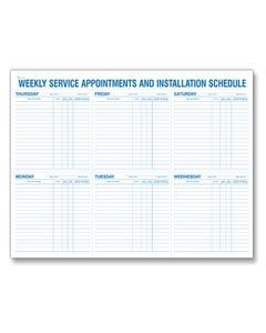 Weekly Service Appt & Installation Schedule