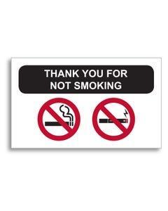 No Smoking Static Cling