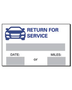 Return for Service Reminders Stickers