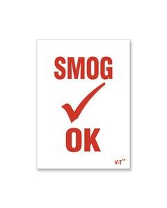 Smog OK Static Cling