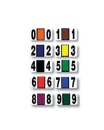 File Right Color Code Number Set (0-9)