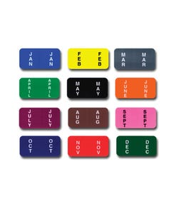 File Right Color Code Labels - Months Full Set - Ringbook
