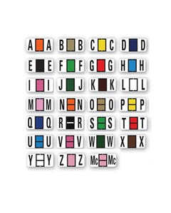 File Right Color Code Labels - Alphabet Full Set-Ringbook