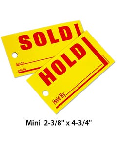 Mini Sold/Hold Tags