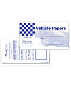 Vehicle Paper Wallets