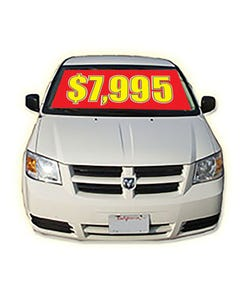 Pricing Windshield Banner