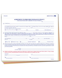Agreement to Provide Insurance Policy