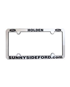 Shiny Chrome License Plate Frame - Economy