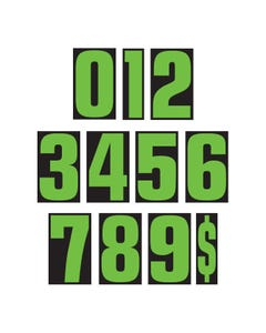 "9 1/2"" Number Window Stickers"