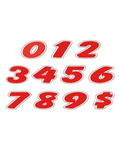 "6-1/4"" Number Window Stickers"
