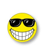 Window Sticker-Happy Face with Glasses