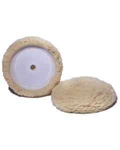 Velcro White Wool Buffing Pad