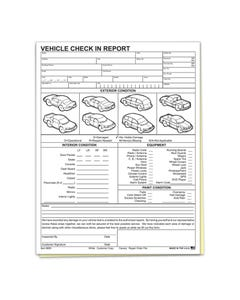 Vehicle Check in Report