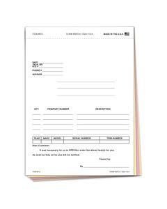 Special Parts Order Form SPO-4