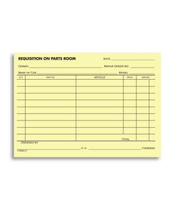 Parts Requisition Forms - 27