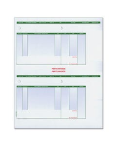 Laser Part Invoices - Perforated