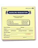 Custom Imprinted Fuel Requisition Book