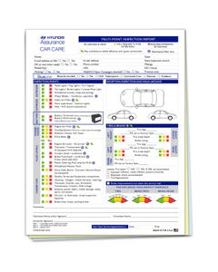 Hyundai Multi-Point Inspection Forms