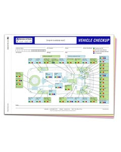 Custom Imprinted Chrysler Multi-Point Inspection Form