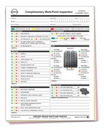 Custom Imprinted Nissan Multi-Point Inspection Form