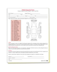 Vehicle Inspection & Estimate Form
