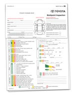 Custom Imprinted Toyota Multi-Point Inspection Forms