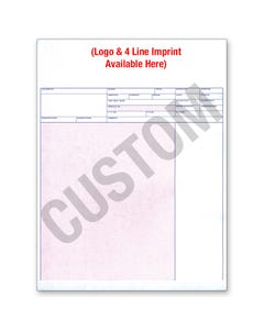 Custom Imprinted Laser Service Invoice - LZR-SI-11