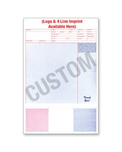 Custom Imprinted Laser Service Invoice w/Coupons