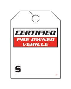 Pre-Printed Hang Tags - Certified Pre-Owned
