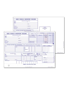 Used Vehicle Inventory Card