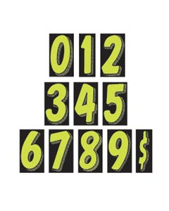 "7 1/2"" Number Window Stickers"