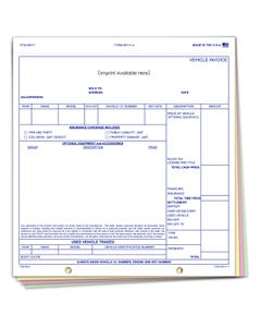 Custom Imprinted Snap-Out Vehicle Invoice 6131-4