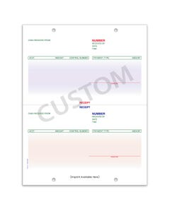 Custom Imprinted ERA System Cash Receipt LZR-CR