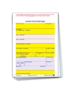 3-Part Vehicle Deal Label AA-168 P/A-3