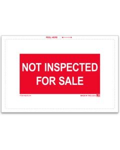 Not Inspected For Sale Sticker