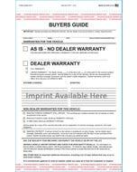 Custom Imprinted 2-Part Buyers Guide AS-IS