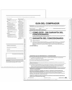 Spanish 1-Part Peel-n-Seal Buyers Guides - AS-IS No Lines