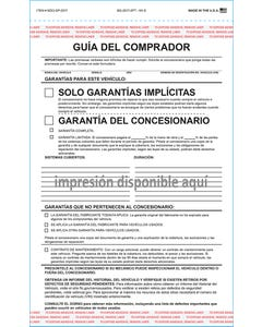 Custom Imprinted Spanish Buyers Guide - Implied Warranty