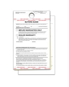 2-Part Hanging Buyers Guide - Implied Warranty