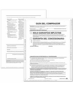 Spanish 1-Part Peel-n-Seal Buyers Guides - Implied Warranty No Lines
