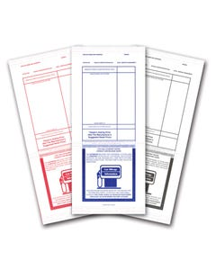 Printed Tape Adhesive Addendum Stickers