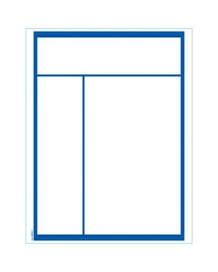 Stock Laser Window Stickers - Blue Border