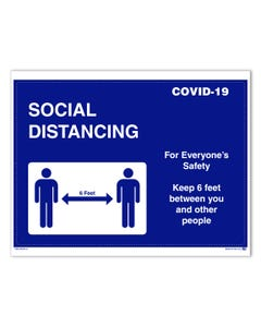 Social Distancing Sticker/Door Signage
