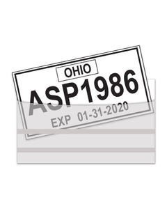 License Plate Tag Bag with Adhesive