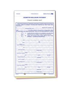 Custom Imprinted Odometer Disclosure ODOM-65-3
