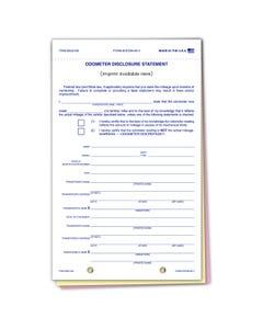 Custom Imprinted Plain Odometer Disclosure ODOM-65-3