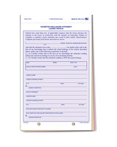 Lease Odometer Statement  ODOM-489-L